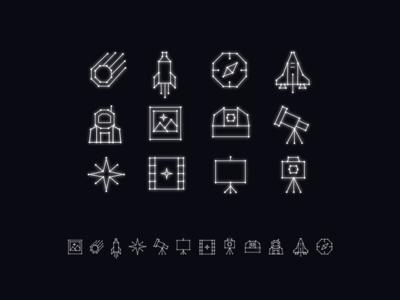 Space Week Icons
