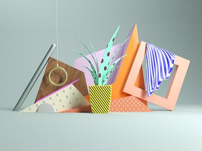 Set improvisation octanerenderer digitalart abstract art patterns stilllife setdesign cinema4d