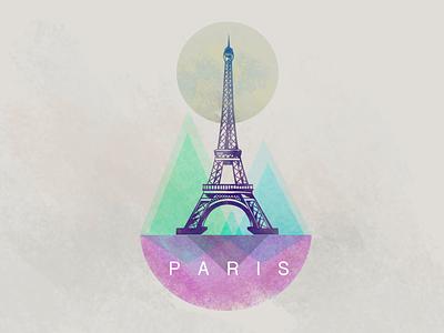 Colauncher Eiffel Tower Sticker Concept tower eiffel paris bright sticker