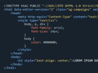 Marketing Campaigns Code Editor Color Scheme