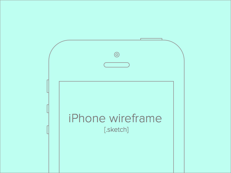iPhone Wireframe for Sketch freebie wireframe iphone sketch .sketch downloads free grid print-out print
