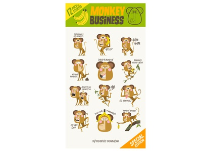Monkey Business stickers pack