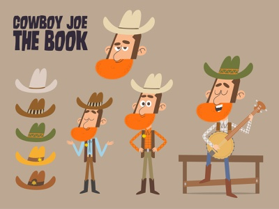 Character design digitalart characterdesign cowboy illustrator digital art childrens book art humor character design vector illustration