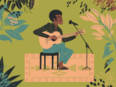 Gilberto Gil gilbertogil music digitalart illustrator art digital art design character design vector illustration