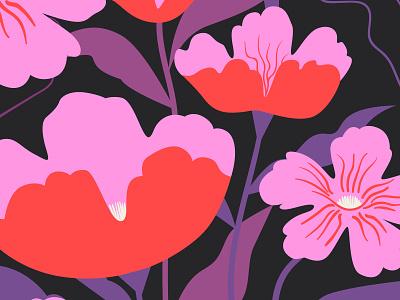 Don't Worry nature illustrator design digital art art color flower flowers vector illustration