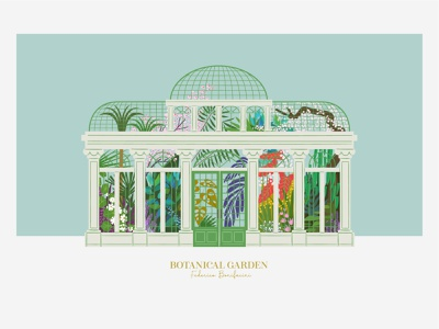 BOTANICAL GARDEN illustrator art digital art design vector plants illustration botanical illustration botanical art botanical gardens