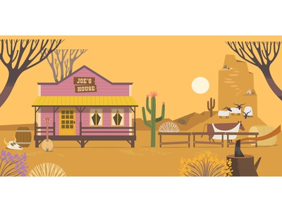 Western background for children story