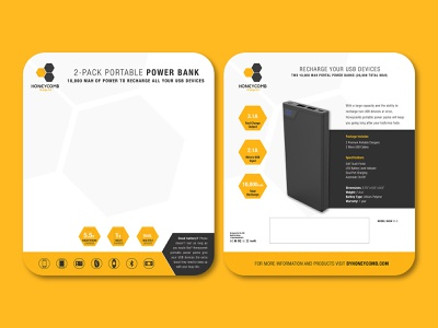 Honeycomb Power Banks packaging design copywriting brand strategy creative direction graphic design