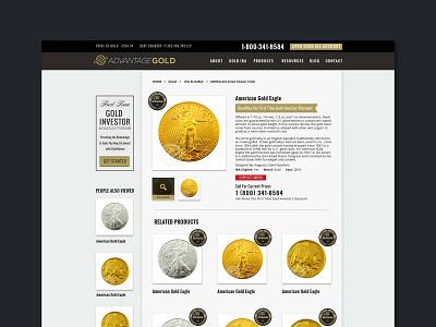 Advantage Gold branding design brand strategy ui graphic design