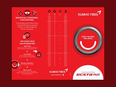 Kuhmo Tire PA31 Tri-Fold graphic design