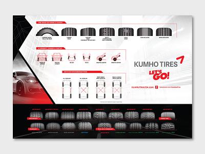 Kuhmo Tire POS Placemat graphic design