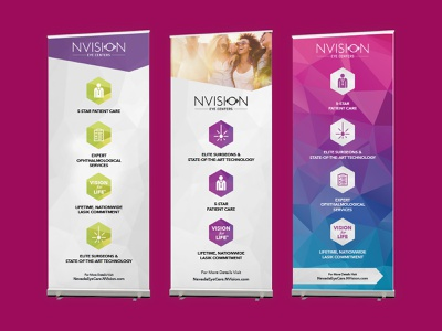 NVision Roll Up Banners graphic design