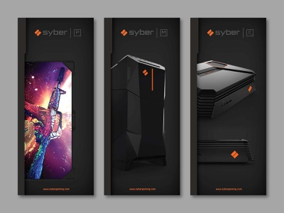 Syber Gaming CES Roll Ups graphic design