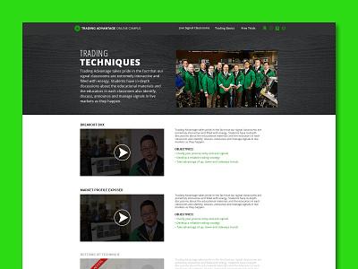 Trading Advantage Online Campus ui graphic design