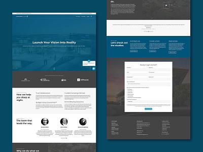Visioneering Studios Website photography copywriting ui graphic design