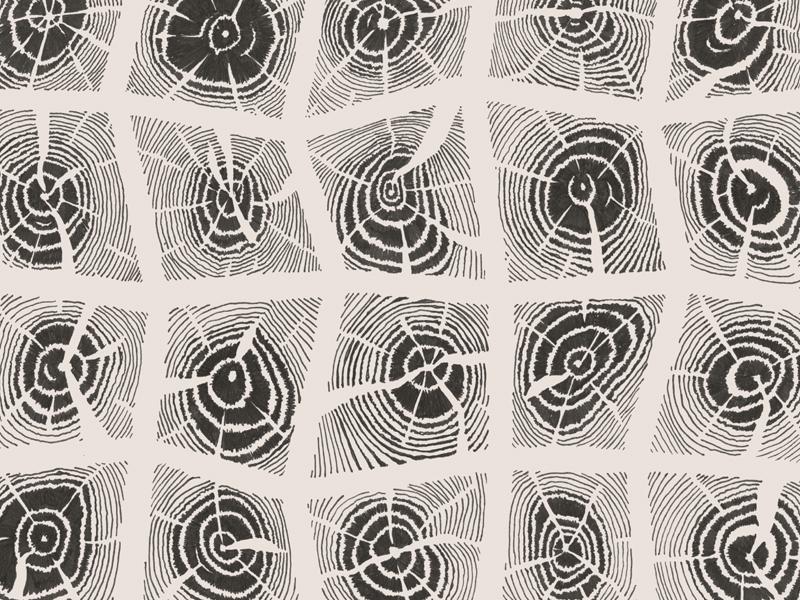 Wood Grid micron wood graphic texture illustration