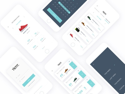 iOS app for data visualization for store owners calendar data visualization illustration dashboard saas ux ui