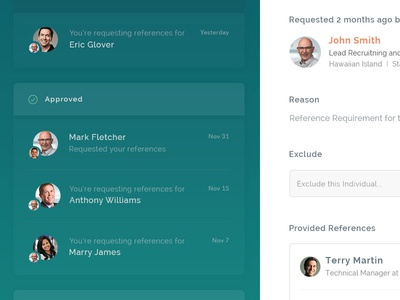 Inbox Design for Linkedin based app