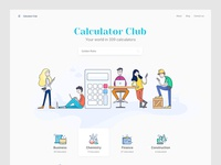 Landing Page - Calculator Club