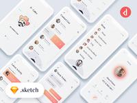 D-Caller - Free Mobile UI Kit .sketch