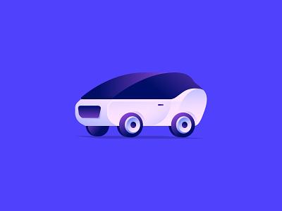 Cars 1.0 exploration color symbol gradient vector illustration icon design