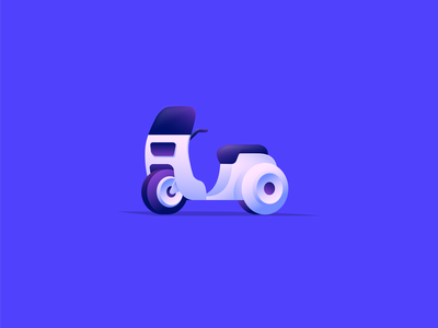 Motorcycle 1.0 exploration color symbol vector gradient illustration logo icon design