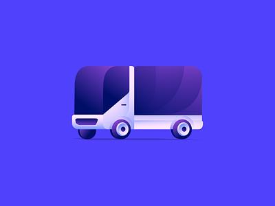 Truck 1.0 exploration color symbol vector gradient illustration icon design