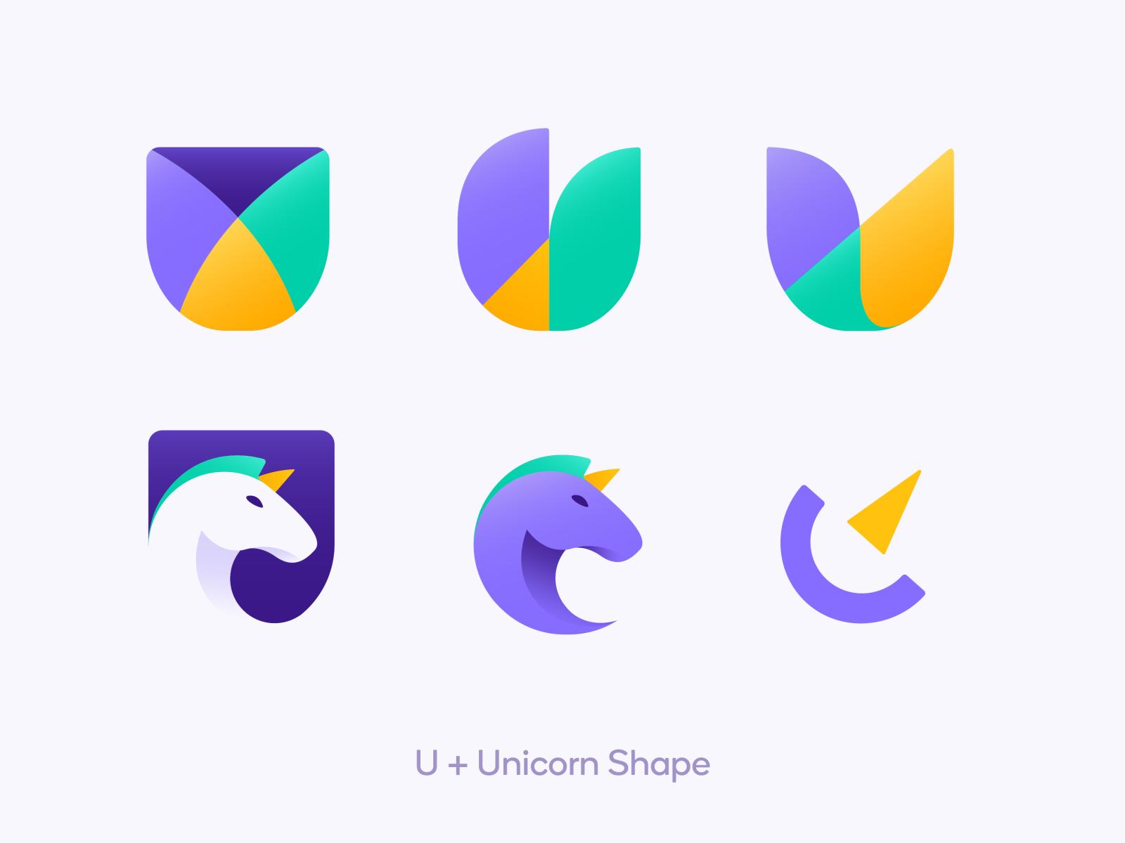 Uniqorn Logo - Proposal app branding exploration illustration symbol vector gradient icon logo design