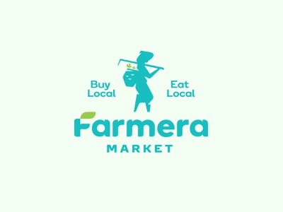 Farmera Market Logo Proposal web app branding color symbol vector illustration logo icon design