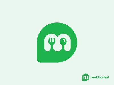 Makla.chat Project food app app food branding vector symbol icon logo design
