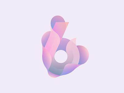 Six number illustrator gradient six exploration design color