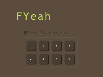 Keypad ui css scss hover clickable button