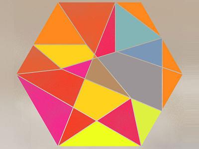 Geo Design illustration color geometry for fun