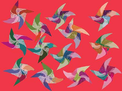 Pinwheeler pinwheels wacom illustration