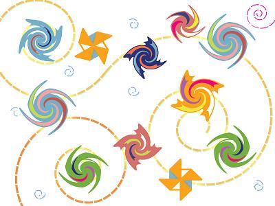 Mo' Pinwheels illustration spinning pinwheels