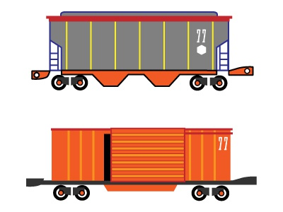 More Make it Train vector illustratoin trains