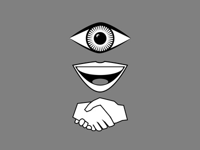 icons icon vector eye mouth shake hands