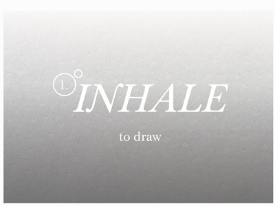 Inhale  typography illustration