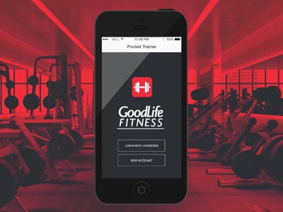 Goodlife Fitness - Personal trainer mobile app after effects animation school project app personal training ios product design fitness mobile