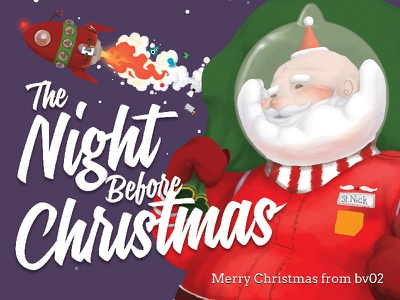 Children's book illustrations - bv02 Christmas Campaign 2014 print book wacom illustrator photoshop digital painting childrens book the night before christmas christmas bv02 illustration