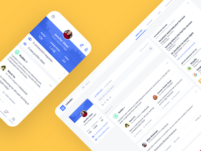 Daily UI Challenge #105 - LinkedIn clean up redesign news feed web ux clean mobile ui