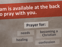 Prayer slide