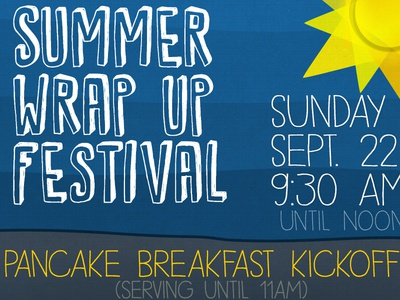 Summer festival first draft blue yellow grey summer poster