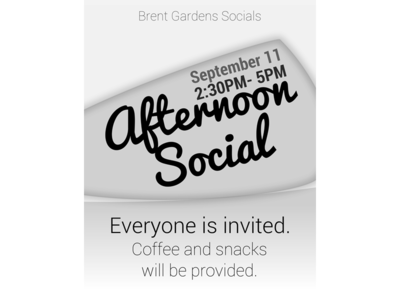 Afternoon social fall 2013 poster poster