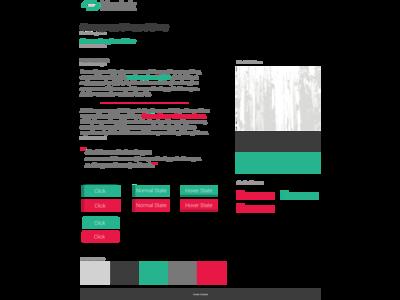 kuztek v6 styletile take 2 green pink style tile website mock draft