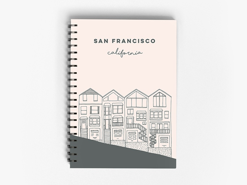 Painted Ladies notebook sketching san francisco california belia simm painted ladies