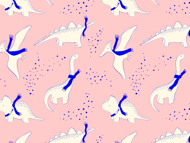 Xmas Dinos belia simm minted pattern cute illustration dinosaur dinosaurs christmas