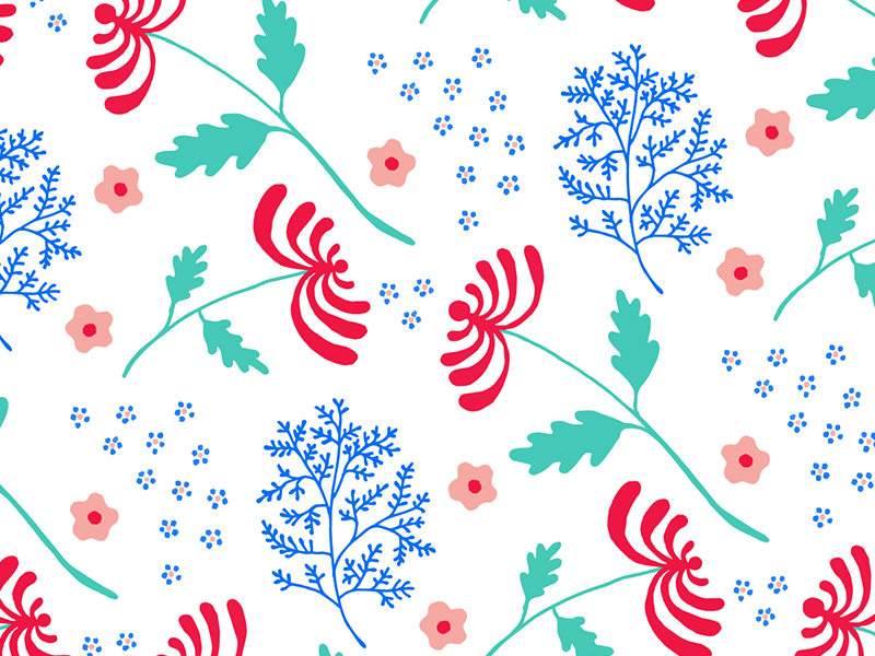 Wintery Florals minted belia simm illustration florals pattern flowers wintery florals