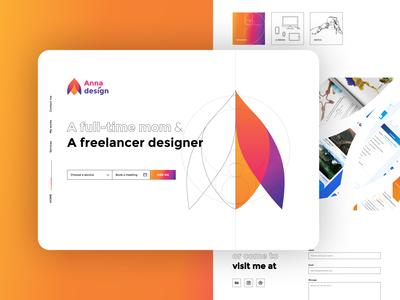 [Daily UI 003] Landing page freelance design rainbow dailyui003 landing page design landingpage uidesign graphicdesign ui annadesign