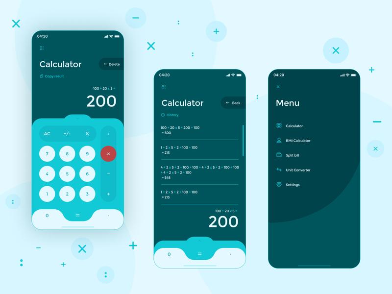 [Daily UI 004] Calculator app blue dailyui004 calculator ui mobile app design uidesign design ui graphicdesign annadesign